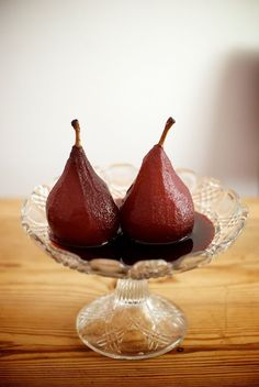 Peras al vino tinto, receta tradicional
