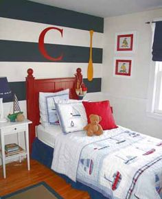 I've been wanting to do that striped paint in Seth's room for years.
