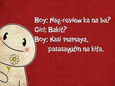 Funny Pick up Lines for Girls Tagalog Tagalog Quotes Hugot Funny, Tagalog Love Quotes, Hugot Quotes, Creepy Pick Up Lines, Pick Up Lines Funny, Funny Pick, Filipino Pick Up Lines, Pick Up Lines Tagalog, Flirting Texts