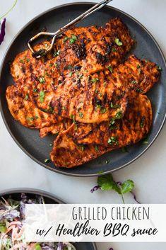 Healthier bbq sauce recipe. Healthy BBQ sauce recipe. Way less sugar with all of the BBQ flavor. Use for BBQ grilled chicken, pulled pork or as a side. #bbq #bbqrecipes #bbqsauce #bbqchicken #bbqparty #grillingrecipes #grillrecipes #chicken #healthy #healthyrecipes #chickenrecipes #health