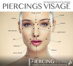 13 places of piercings in the face piercing-pure. - 13 bodies of piercings in the face piercing-pure. Piercings Corps, Spiderbite Piercings, Facial Piercings, Types Of Piercings, Face Peircings, Monroe Piercings, Piercing Tattoo, Piercing Chart, Lip Piercing