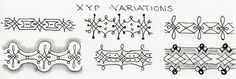 Tangle: XYP Variations by Virginia Murray. NOTE:  XYP is an official Zentangle by Rick & Maria, Zentangle Founders