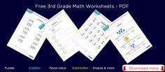 3rd grade math worksheets downloads
