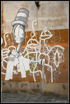 Street art urban artist Kenny Random in Padua PADOVA - Piazza Capitaniato Italy Graffiti
