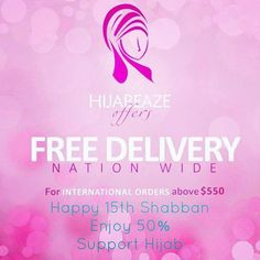 """♡Salam to the Imam(ajf) of our time♡ 15 Shabban Mubarak  HIJABEAZE 2nd Fantabulous Sale!!! On """" 15 Shabban """" 50% Off on the whole store for one day. Making it easy to wear hijab for girls """"QURBATUN I'LL ALLAH"""" Coupon code for online shopping: 51323ajf Hurry Hurry and grab all what you want . Offer valid till midnight today . For more details call 03002200003 Discount Deals, Coupon Codes, Free Delivery, Allah, Coupons, Online Shopping, Coding, Store, Happy"""