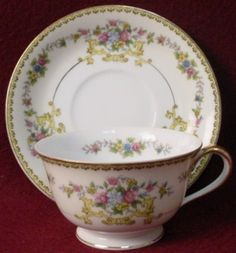 Noritake China N1353 Pattern Cup Saucer Set | eBay Coffee Cups And Saucers, Cup And Saucer Set, Tea Cup Saucer, Vintage China, Vintage Tea, Turkish Coffee Cups, Antique Tea Cups, Noritake, Chocolate Pots