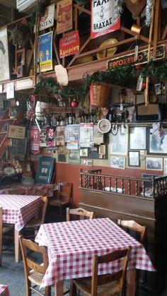 Athens Restaurants, Greek Cafe, Santorini Villas, Myconos, Greece Pictures, Coffee Places, Rustic Restaurant, Amusement Park, Greece Travel