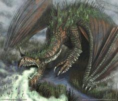 Swamp Dragon by christopherburdett on DeviantArt