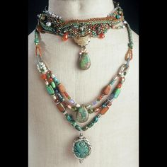Heather Haase Designs - Home Page - Unique jewelry incorporating antique and unusual gemstones into hand woven designs