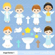 Angel Digital Clipart, Angel Clipart, Angel Clip Art, Angel Boy Clipart, Angel Boy Clip Art, Baptism Clipart, Angel Baptism Boy Clipart