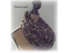 Leopard Infinity Scarf lace scarve cowl loop scarf by UrbanScarfs, $19.00