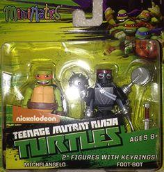 Minimates Teenage Mutant Ninja Turtles Michelangelo & Foot-Bot figures w/keyrings Diamond http://www.amazon.com/dp/B00R06VGKK/ref=cm_sw_r_pi_dp_HQ6Tvb1V6ANY7