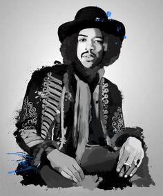 Jimi Hendrix, Tinted Style | http://www.yourpainting.de/motive-artikel/jimi-hendrix