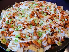 buffalo chicken nachos - yum