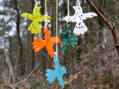 Keramik Garten Windspiel Vögel aus Keramik mit von gedemuck auf Etsy, €19.00