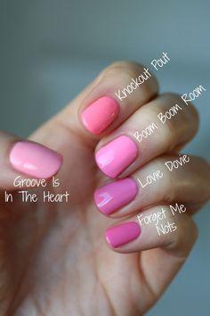Essie Bubble Gum Pinks Comparison | Essie Envy