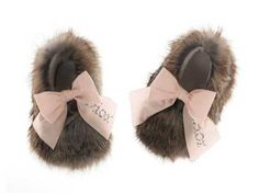 Seriously. Shut the front door. slippers by Baby Dior.