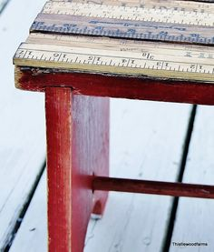 DIY~ Yardstick Stool