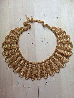 Gold CORAL necklace handmade by Mexican by ArtesaniaHUICHOL
