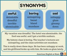 Elucidating synonym for sad
