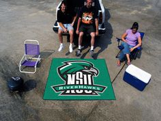 """The Northeastern State RiverHawks Tailgater Mat is a fantastic way to show team pride while tailgating, or even in your man cave or game room. The NSU RiverHawks Tailgater is an area rug measuring 60"""""""