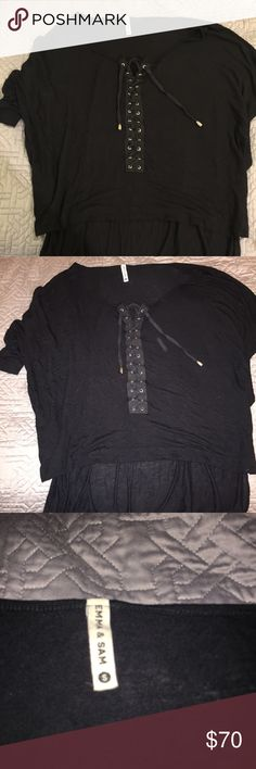 LF Emma and Sam lace up tee Size small. Such a comfy and trendy tee!! Make an offer. LF Tops Tees - Short Sleeve