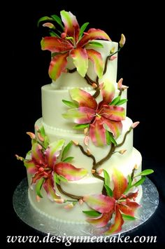 Love those flowers! by Design Me a Cake