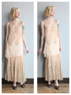 1920s Wedding Dress // Love & Grace Silk and Lace Wedding Gown // vintage 20s wedding dress