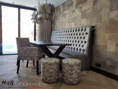 Eetkamerbanken en eetkamerstoelen - HB Lifestyle Collection - Lilly is Love Dining Bench, Dining Chairs, Unique Home Decor, Armchair, Lifestyle, Furniture, Collection, Interior, Lush