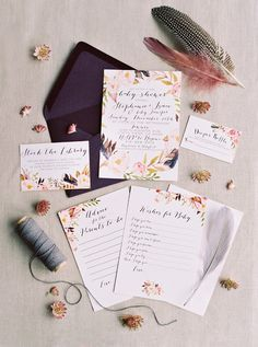 Bohemian baby shower invites | Wedding & Party Ideas | 100 Layer Cake