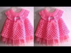 Vestido tejido a crochet todas las tallas parte 1 - YouTube