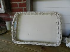 Vintage Wicker Tray by DaphsSmallWorld on Etsy, $22.00