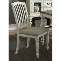 For spaces both formal and casual, the Liberty Furniture Industries Cumberland Creek Slat Back Dining Side Chair - Set of 2 is going to give you. Kitchen Chairs, Dining Chair Set, Dining Room Chairs, Side Chairs, Bar Chairs, Dining Table, Bar Furniture, Industrial Furniture, Furniture Deals