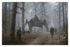 """1920 - German Wolves • Illustrated by Jakub """"Mr. Werewolf"""" Rozalski • Archival pigment print • Printed on Hahnemühle Fine Art Baryta 325 GSM fiber paper • Varying sizes available Hand-numbered, limite"""