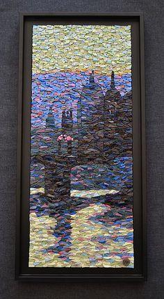 """""""Escapade"""" de Viviane Wolff Tableaux mosaique, sculpture mosaique Mosaique moderne, mosaique contemporaine Mosaic, smalts, Londres, london"""