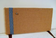 Burlap and Lace Bulletin Board for your Wedding by jensdreamdecor,16.50