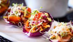 Uma salada na conchinha e uma feira orgânica