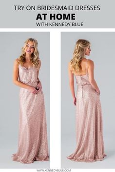 Check out Kennedy Blue's at home try-on program for all of our bridesmaid dresses! With Kennedy Blue you can pick out a handful of dresses and find the one that is perfect for your bridesmaids on your special day! All you have to do is pick out the dresses online for 10$ per dress and we will handle the rest! #athometryon | #bridesmaiddresses | #kennedybluebridesmaiddresses | Kennedy Blue's At Home Try-On Program