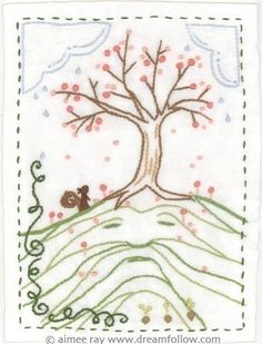 Hill Man embroidery pattern PDF