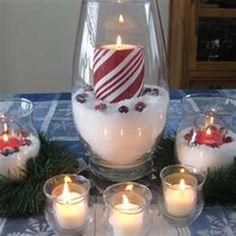 Christmas table decorating idea