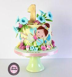 Fondant, Happy Birthday, Sweet Tables, Desserts, Children Cake, Food, Elves, Faeries, Happy Brithday