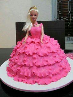 Frozen Doll Cake, Bolo Barbie, Barbie Birthday Cake, Prince Cake, Barbie Kids, Naked Cakes, Ballerina Cakes, Baby Girl Cakes, Dress Cake