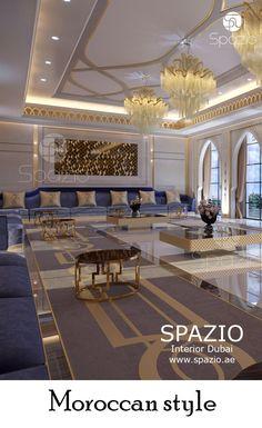 Majlis interior deisgn arabian nights Spazio specializes in Arabic majlis interior design. A majlis has a special role. Interior Design Dubai, Luxury Homes Interior, Interior Design Companies, Luxury Home Decor, Ceiling Design Living Room, Home Room Design, House Design, Arabian Decor, Plafond Design