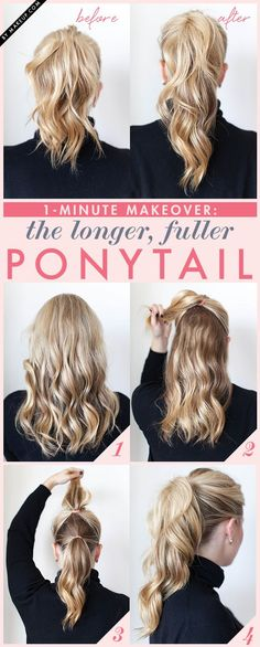 Ponytail Trick - I need to try this with my thin fine hair!