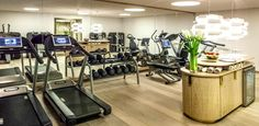 Recharge your batteries in Intercontinental Davos'  state of the art 24/7 fitness gym stocked with cardio and weight lifting Technogym wellness solutions, #wellnessinhotels #technogym