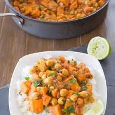 """Coconut Curried Sweet Potato and Chickpea Stew Credit: oneingredientchef.com"