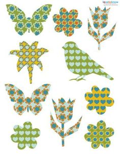Garden die cuts and more :) Free scrapbook, journal embellishments