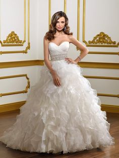 Big Poofy Wedding Dresses with lace and beading | Lace Applique Taffeta Tiered Skirt Ball Gown Latest Wedding Dresses ...