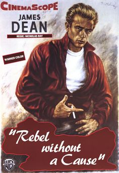 James Dean is THE REBEL WITHOUT A CAUSE