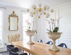 The details in this dining room. See our favorite dining rooms of 2014 on domino.com